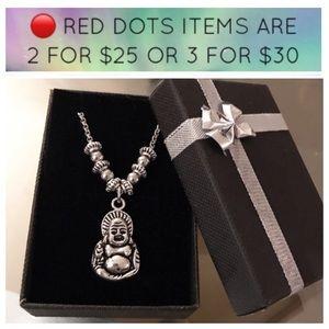 🔴SALE ! women  buddha choker steel necklace